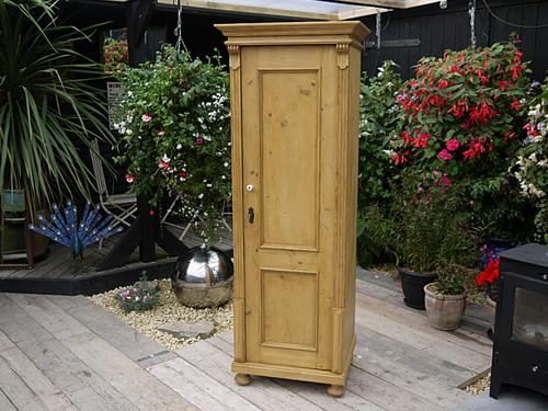 Lovely Old Antique Pine Tall Slim Linen / Larder / Food Cupboard (1 of 1)