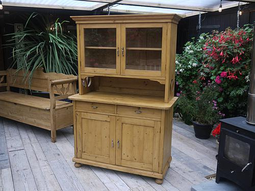 Fabulous! Old Antique Pine Two Piece Dresser (1 of 1)