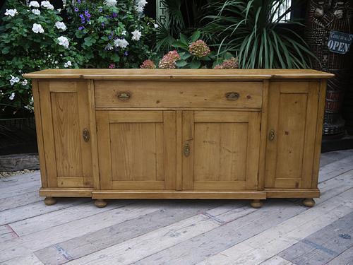 Big!! Old 4 Door Antique Pine Dresser Base Sideboard (1 of 1)