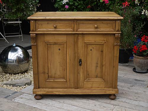 Wow! Lovely Old Antique Victorian Pine Dresser Base Sideboard / Cupboard / Cabinet (1 of 1)