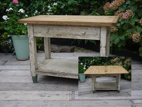 Victorian Shabby Chic Pine & Painted Kitchen / Dining Extending Table (1 of 1)