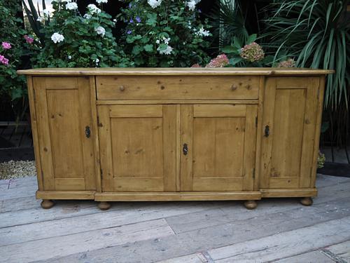 Big!! Old 4 Door 2M Antique Pine Dresser Base Sideboard / Cupboard / Cabinet / Kitchen (1 of 1)