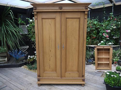 Old Antique Victorian Pine Knock Down Sectional Cupboard / Wardrobe (1 of 1)