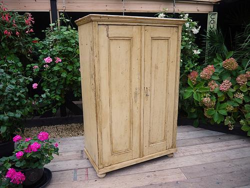 Gorgeous Old Victorian Painted Pine Cupboard / Linen / Food / Kitchen / Wardrobe Shabby Chic (1 of 1)