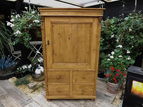 Lovely! Old Antique Pine Linen Press Cupboard (1 of 1)