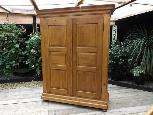 Big! Old Antique Georgian Knock Down Pine Wardrobe / Cupboard (1 of 1)
