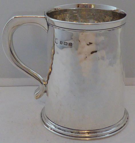 1912 Hallmarked Solid Silver 1/2 Pint Tankard Christening Mug (1 of 1)