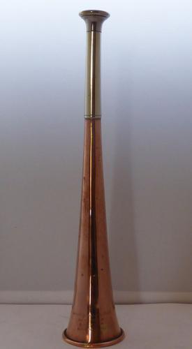 Swaine & Adeney Kohler & Sons Copper Silver Plate Hunting Horn c.1910 (1 of 1)