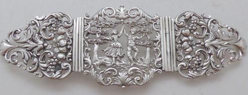Goldsmiths & Silversmiths 1909 Hallmarked Solid Silver Nurses Belt Buckle (1 of 1)