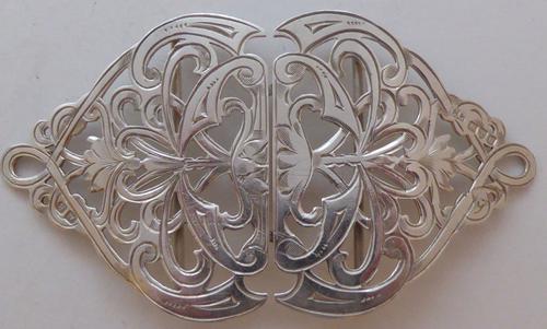 Chester 1900 Art Nouveau Hallmarked Solid Silver Nurses Belt Buckle (1 of 1)