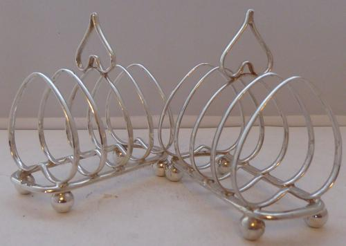 Pair Love Heart 1905 Solid Hallmarked Silver Toast Racks Gift Boxed 113.8g (1 of 1)