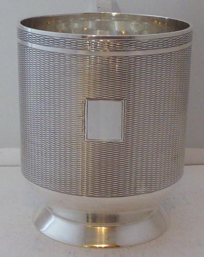 Stunning Art Deco 1930 Hallmarked Solid Silver Christening Mug Tankard 208g (1 of 1)