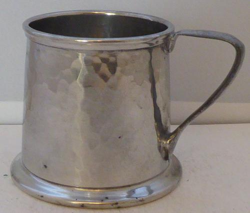 Liberty & Co Tudric Pewter Christening Mug Tankard c.1910 (1 of 1)