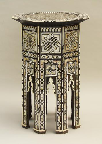 Fabulous Antique Inlaid Syrian Mother of Pearl Table (1 of 9)