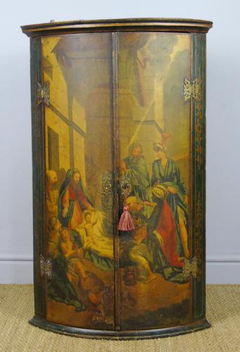 George III Painted Corner Cupboard (1 of 6)