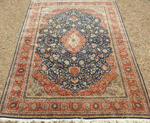 Tabriz Carpet Room Size c.1930 (1 of 8)