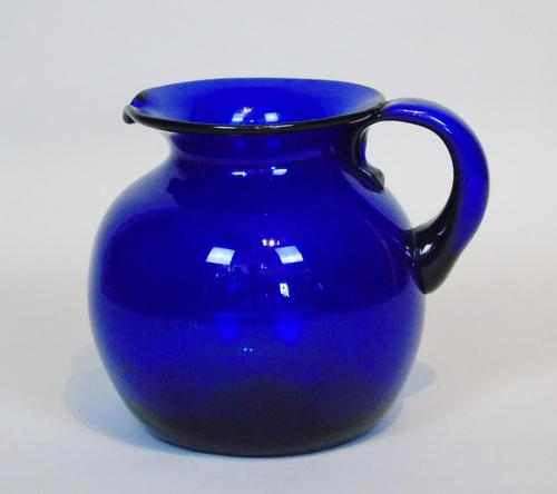 Large Bristol Blue Glass Water Jug (1 of 6)
