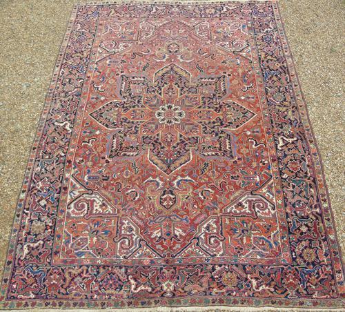 Antique Heriz Carpet Room Size (1 of 10)