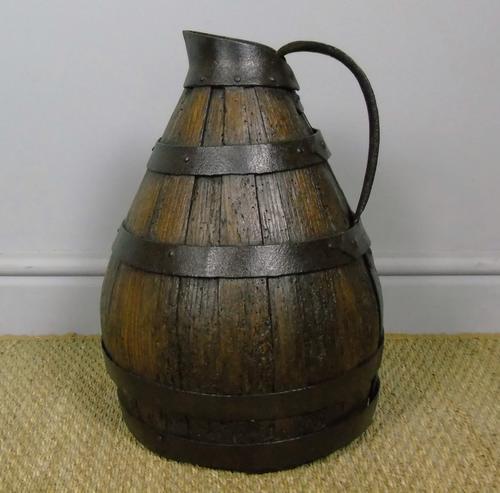 Charming Coopered Oak 19th Century Cider Jug (1 of 7)