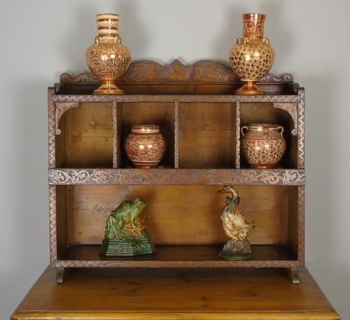 Antique Country Pine Wall Shelves / Table Display Cabinet (1 of 6)