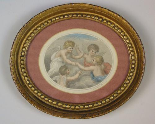 Hand Coloured Stipple Engraving of Putti Bartolozzi (1 of 5)