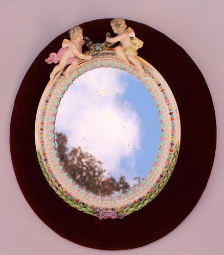 Continental Porcelain  Mirror Cherubs C.1860 (1 of 1)