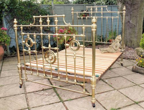 Beautiful Victorian Brass Double Bed (1 of 1)