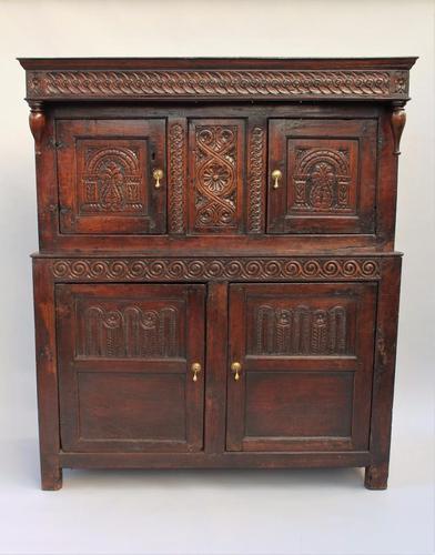 17th Century Antique Oak Court Cupboard (1 of 1)