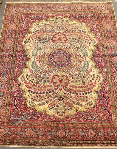 Stunning Antique Kirman Carpet Good Room Size (1 of 1)