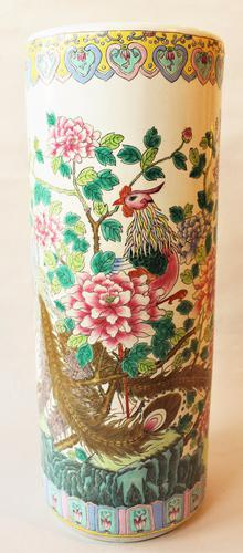 Antique Chinese Famille Rose Stick Stand C.1900 (1 of 1)