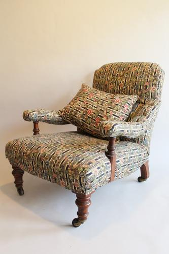 Howard Style Victorian Walnut Armchair (1 of 1)