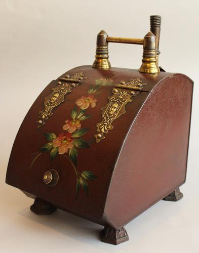 Victorian Painted Toleware Coal Box (1 of 1)