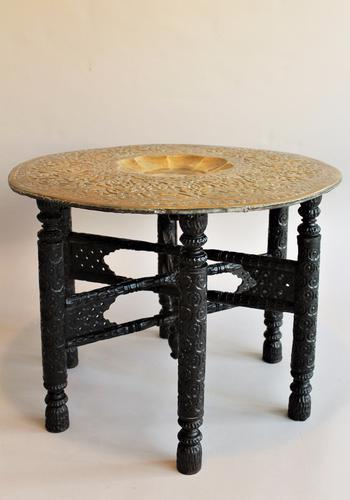 Persian Solid Brass Tray Top Table (1 of 1)