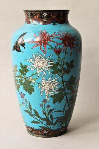 Antique Large Japanese Cloisonne Vase (1 of 1)
