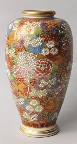 Antique Japanese Satsuma Vase (1 of 1)