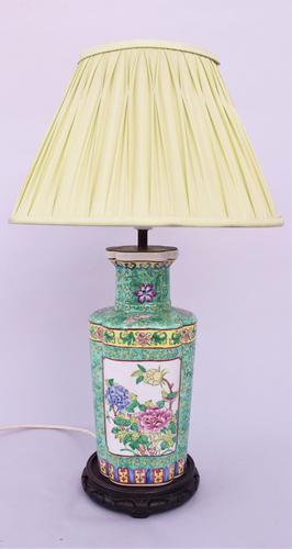 Antique Famille Rose Lamp c.1900 (1 of 1)