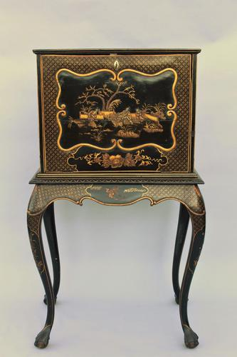 Antique Gilded Chinoiserie Bureau Cabinet (1 of 1)