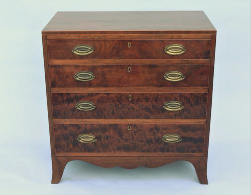 Regency Mahogany Caddy Top Chest of Drawers (1 of 1)