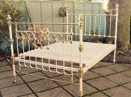 Victorian Cast & Brass Double Bed (1 of 1)