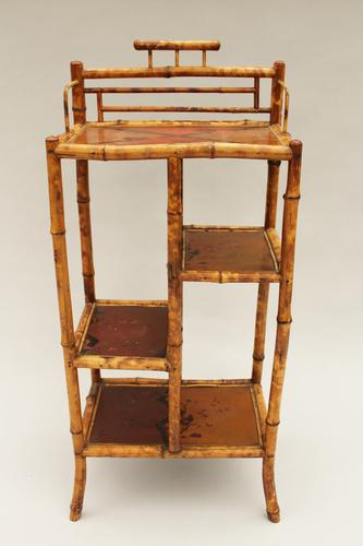 Antique Bamboo Shelves Whatnot c.1890 (1 of 1)