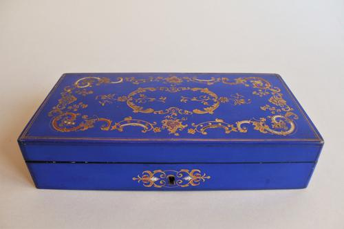 Antique French Hand & Gilded Painted Jewellery Box c.1900 (1 of 1)
