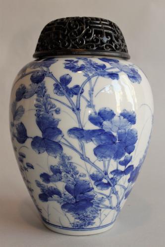 Antique Japanese Seto Vase c.1900 (1 of 1)