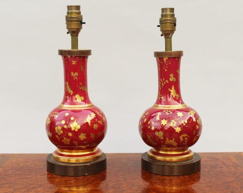 Pair of Porcelain Table Lamps c.1920 (1 of 1)