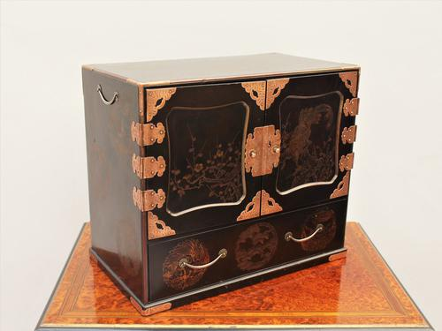 Japanese Meiji Lacquer Cabinet c.1890 (1 of 1)