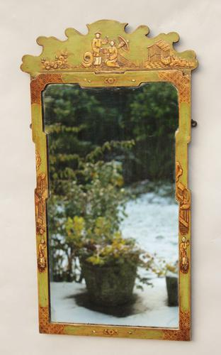 Chinoiserie Painted Pier Glass Mirror c.1890 (1 of 1)