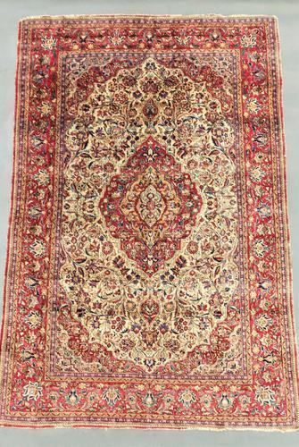 Antique Silk Kashan Carpet (1 of 1)
