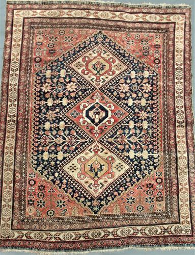 Antique Kashgai Carpet c.1890 (1 of 1)