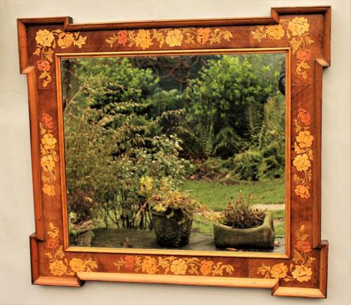 Antique Inlaid Overmantel Mirror c.1890 (1 of 1)