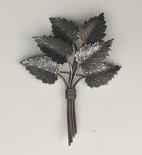 1945 Charles Horner Silver Leaf Brooch (1 of 3)