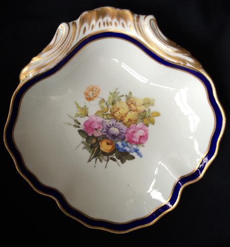 William Billingsley Derby Shell Dessert Dish c.1790 (1 of 4)